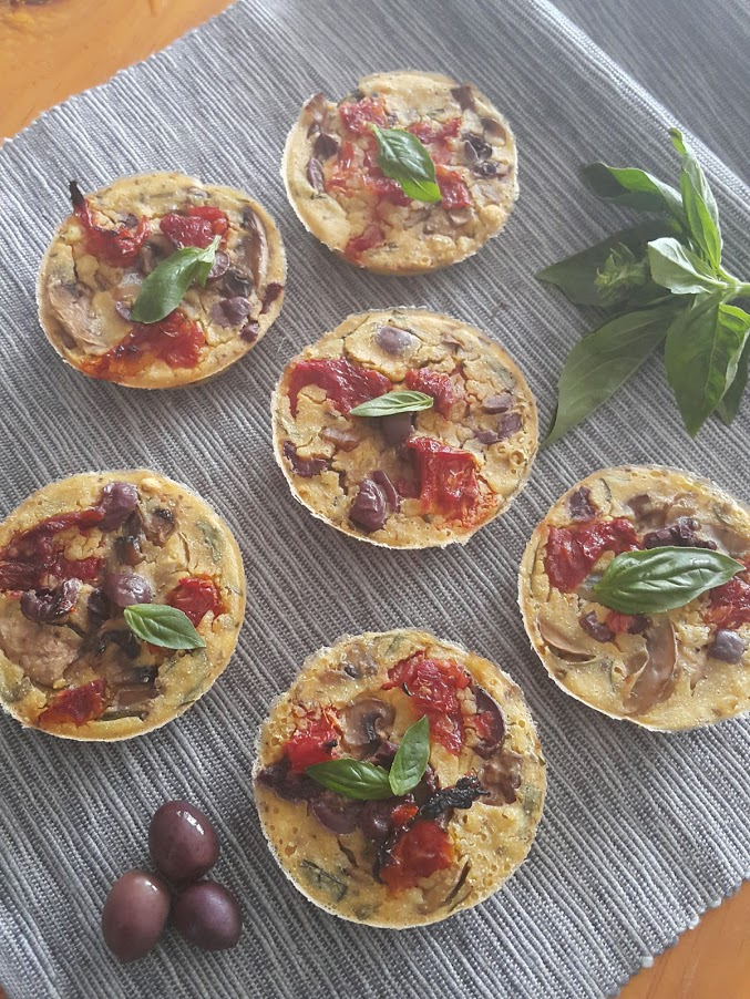 small italian quiches, vegan and crustless