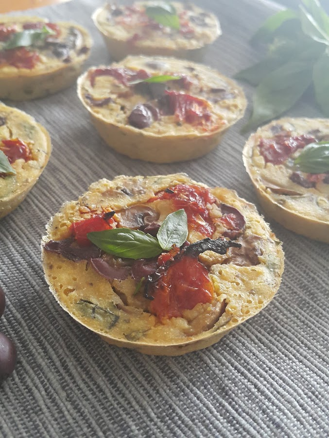 mini crustless vegan italian quiches